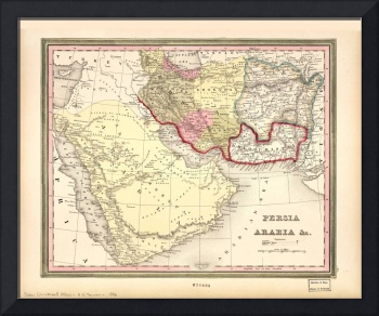 Map of the Middle East (1846)