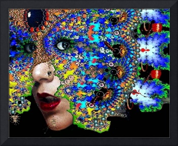EPHEMERAL / WOMAN PORTRAIT WITH FRACTAL MASK