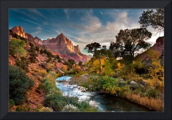 Twilight On The Virgin River (Landscape)