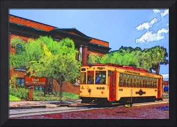 Teco Street Car West Tampa Public Library