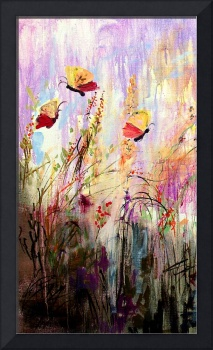 Butterflies Frolicking Painting by Ginette