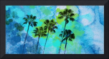 ORL-2050 Palm trees on the beach 60X30