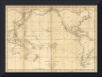 Vintage Map of The Pacific Ocean (1788)