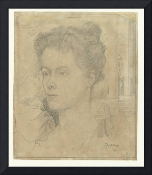 Portrait of Jan Toorop's wife Annie Hall or her si