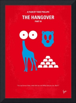 No145 My THE HANGOVER PART 3 minimal movie poster