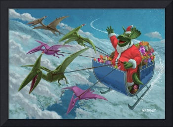 christmas dinosaur santa ride