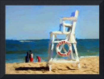 Lifeguard Chair in Ocean City Maryland