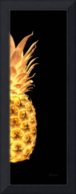 14Gr Artistic Glowing Pineapple Digital Art Gold