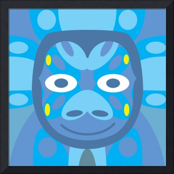 Animal Mask Abstract Geometric Pattern