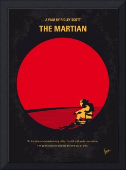 No620 My The Martian minimal movie poster