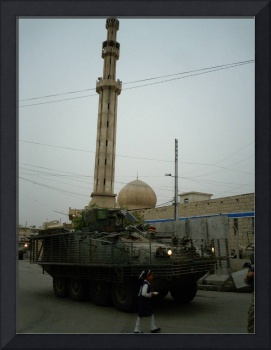 Stryker Mosque and School Girl
