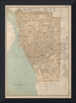 Vintage Map of Buffalo NY (1895)