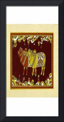 beautiful-bull-power-art-print-silk-framed-sale-on