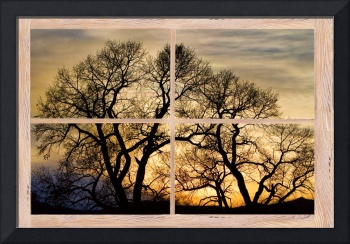 Dancing Forest Trees Picture Window Frame Art