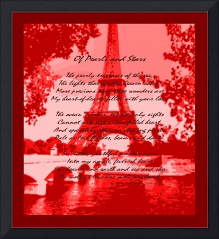 Of Pearls & Stars Eiffel Tower Seine River Red