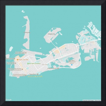 Minimalist Modern Map of Key West Florida, USA 4