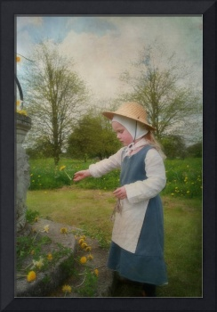 Tudor Girl with dandelions