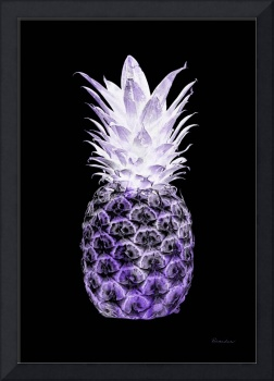 14R Artistic Glowing Pineapple Digital Art Purple