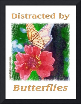 Distracted by Butterflies 04167 Impasto Print