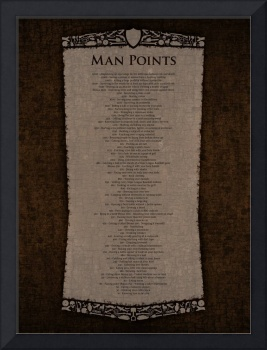 Man Points Poster - Ember