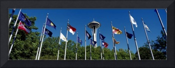 Space Needle Flag Pavilion Seattle Center Seattle