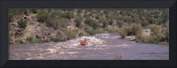 Rafting on the Rio Grande river South of Taos New