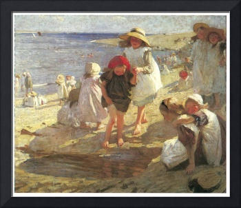 The Beach by Laura Knight