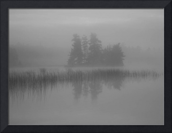 Mist Rises Over Lake, Lake Of The Woods, Ontario,