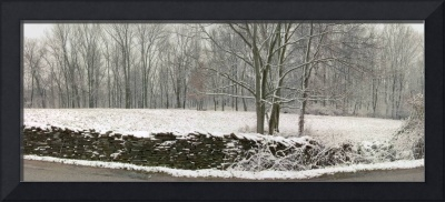 Dry Stack Wall in Snow