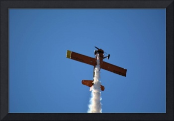 red biplane vertical