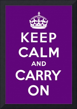 Purple Keep Calm And Carry On 7