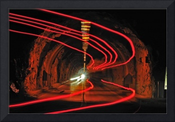 Ghostly Taillights Through The Tunnel
