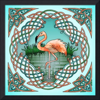Celtic Flamingo Art