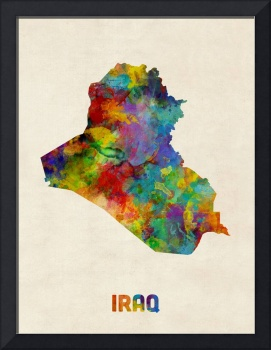Iraq Watercolor Map