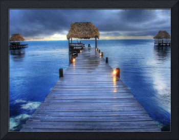 Belize sunrise dock - Dec 08 Version