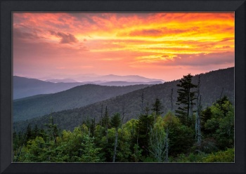 Clingmans Dome Great Smoky Mountains Landscape