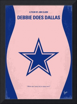 No302 My DEBBIE DOES DALLAS minimal movie poster