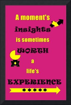 Quotes - A moment's insights is sometimes worth a