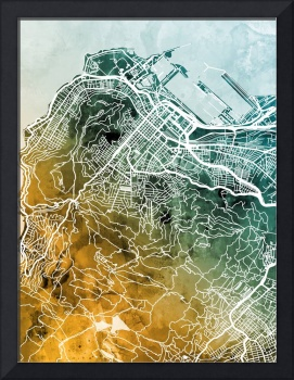 Cape Town South Africa City Street Map