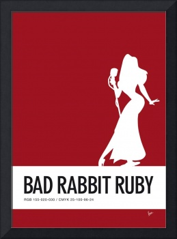No14 My Minimal Color Code poster Jessica Rabbit
