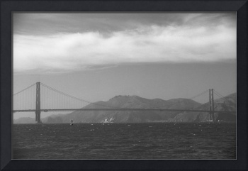 Golden Gate Bridge from the Pacific Ocean
