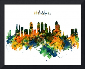 Philadelphia Watercolor Skyline