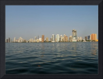 Skyline of Boca Grande, the modern Cartagena, Colo
