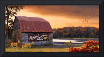 Barn With Packard Ad