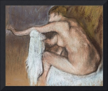 Woman Drying her Arm, c.1884 (pastel on buff paper