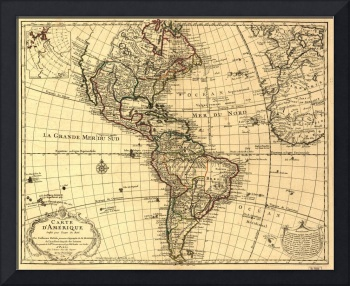 Map of North and South America (1780)