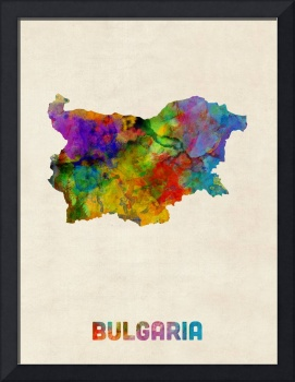 Bulgaria Watercolor Map