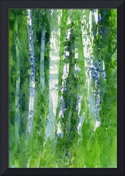 Birch Trees Abstract Shapes