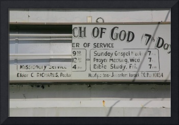 Church of God - Sign in Trenton, New Jersey