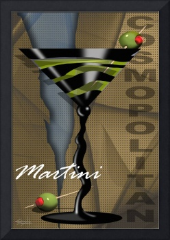 Sexy Art Deco Martini with olives